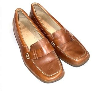 Red wing shoes  leather tan loafers women 6.5